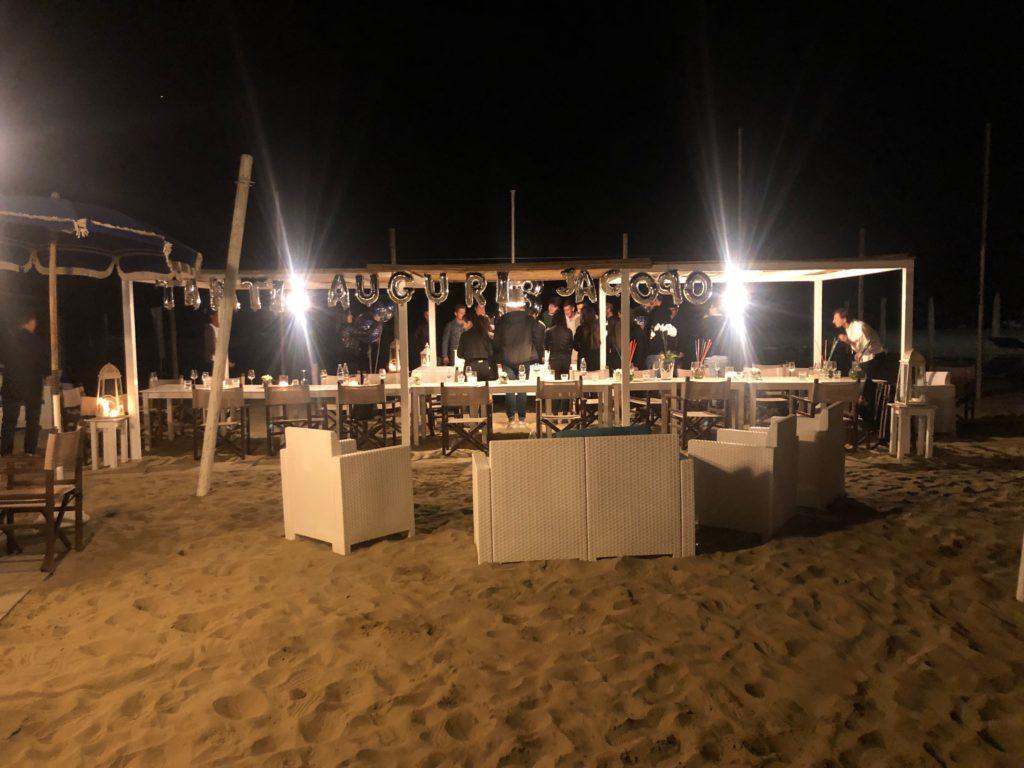 diciottesimo compleanno versilia spiaggia