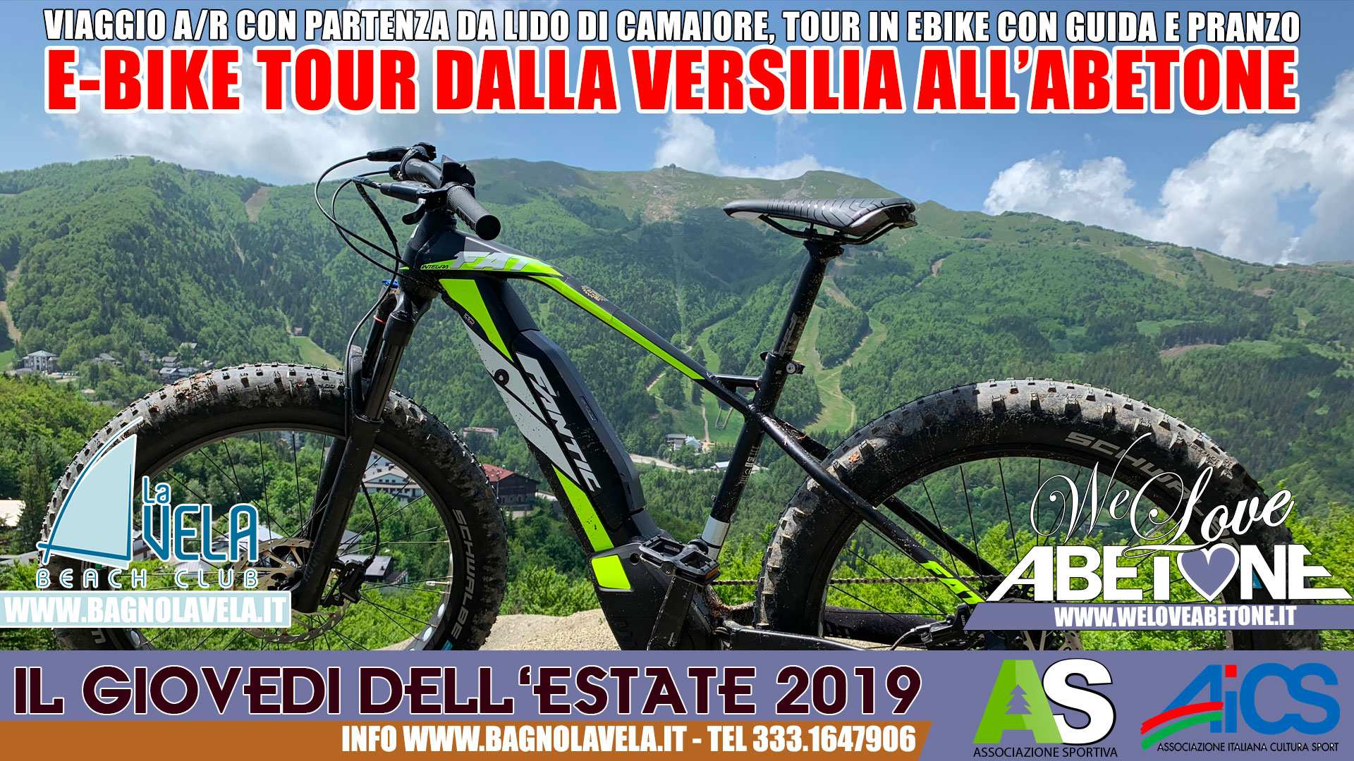 Dalla Versilia all'Abetone per tour con Ebike All Inclusive!