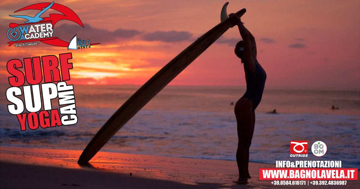 surf sup yoga camp versilia